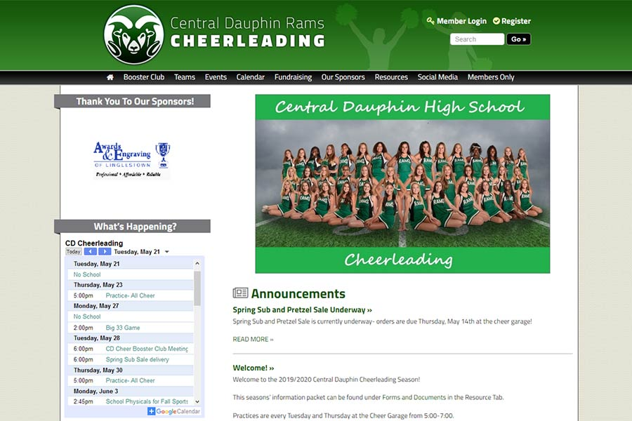 Central Dauphin Rams Cheerleading
